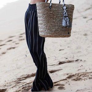 🌵 BILLABONG New Waves Stripe Pants Wide Leg Woven